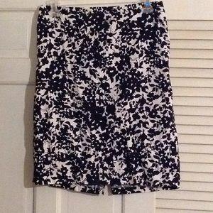Black and white flowery skirt